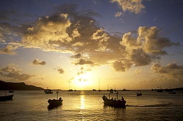 Sunset in Juan Griego, Isla Margarita, Venezuela, Caribbean