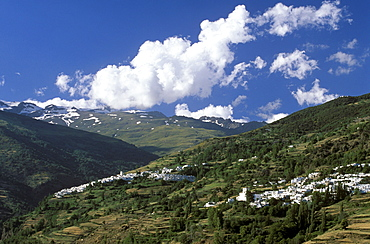 Bubion and Capileira (left), Sierra Nevada, Alpujarra, Alpujarras, Granada, Andalusia, Spain
