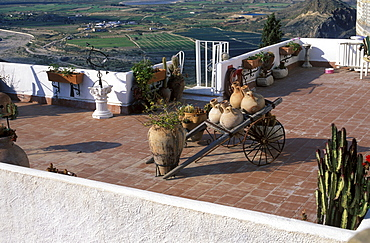 Roof terrace, Mojacar (Almeria), Andalusia, Spain