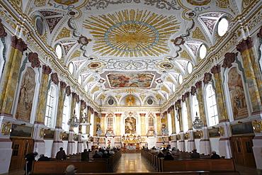 Interior, Buergersaal, Buergersaalkirche Church, Munich, Bavaria, Germany