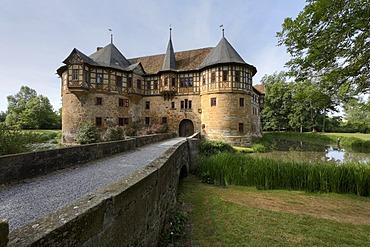 Irmelshausen Water Castle, Hoechheim, Rhoen-Grabfeld, Lower Franconia, Bavaria, Germany, Europe