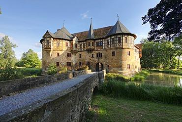 Irmelshausen Water Castle, Hoechheim, Rhoen-Grabfeld, Hass Mountains, Lower Franconia, Germany, Europe