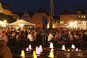 Market square summer Thursday night concerts, Bad Neustadt an der Saale, Rhoen-Grabfeld, Lower Franconia, Bavaria, Germany, Europe
