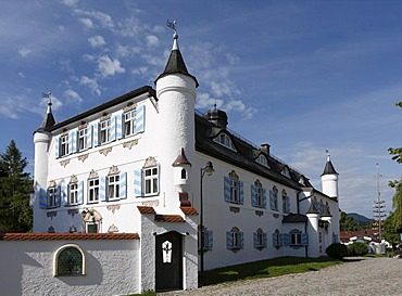 Bonnschloessl Hotel, castle hotel in Bernau on Lake Chiemsee, Chiemgau, Upper Bavaria, Germany, Europe
