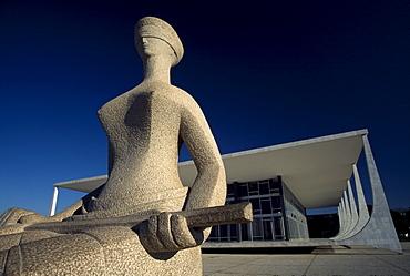Lady Justice sculpture, Brasilia, Distrito Federal, Brazil, South America