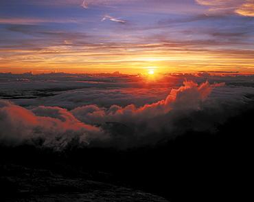 Sunset viewed from Mt. Pico de Bandeira, Alto Caparao National Park, Minas Gerais State, Brazil, South America