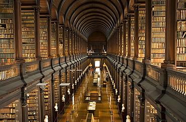 Long Room, Trinity College, Dublin, County Dublin, Ireland