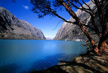 Lagunas Llanganuco, Cordillera Blanca, Peru, South America