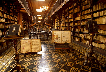 Library of the monastery of San Francisco, Lima, Peru, South America
