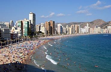 Playa Levante, Benidorm, Costa Blanca, Spain