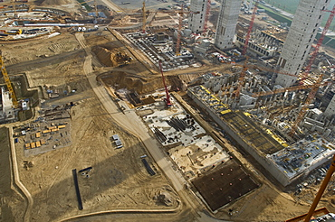 Europe's largest construction site, Brown coal plant, Neurath, North Rhine-Westphalia, Germany