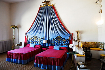 Bedroom in the summer house of surrealist painter Salvador Dali and his wife Gala in Port Lligat, Girona Province, Spain