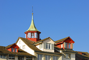 Zuerich - dormers and turrets in the old town - Switzerland, Europe.