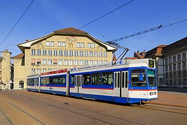 Bern - tram on the Casinoplace - Switzerland, Europe.