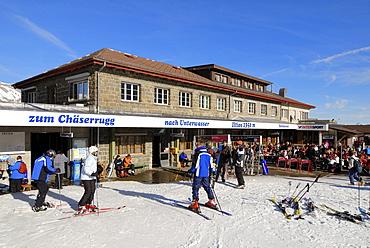 Restaurant on the Iltios mountain - Unterwasser, Canton of St. Gallen, Switzerland, Europe.