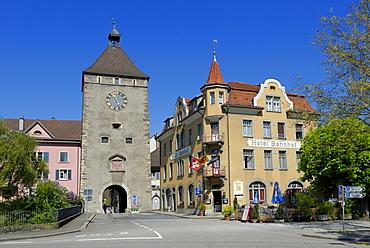 Historic town gate, Laufenburg, Canton of Aargau, Switzerland, Europe