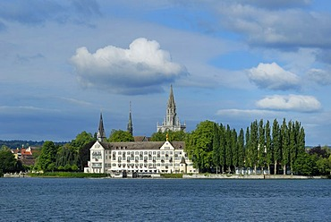 The former monastery in front of the Muenster Tower24, Konstanz, Baden-Wuerttemberg, Germany, Europe