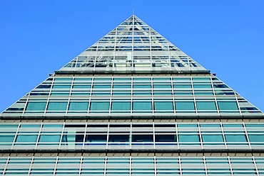 Neue Zentralbibliothek, new central library or glass pyramid, Ulm, Baden-Wuerttemberg, Germany, Europe