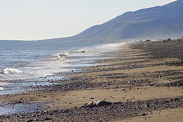 Coast of sea of Okhotsk in settlement Arman, the Magadan area. Eastern Siberia, Russia