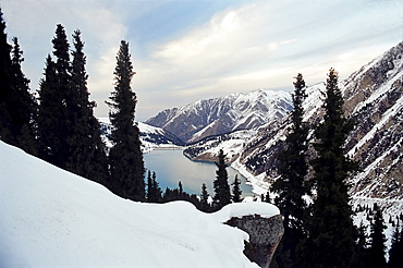 The Big Almaty lake is located in mountains Zailijskiy Ala Tau at height of 2510 m. above sea level, in territory of Ili Alatay national park in republic Kazakhstan.