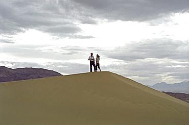 The singing dune in the national park Altyn Emel, Kazakhstan