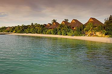 Olhuveli in evening light, Maledives