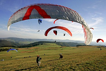 Paraglider at the Wasserkuppe, Hesse, Germany