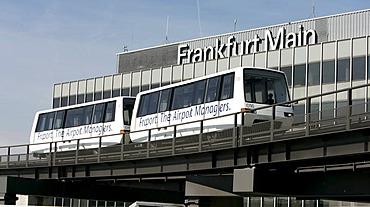 The Sky-train.Shuttle service on the Frankfurt airport, Frankfurt, Hesse, Germany.
