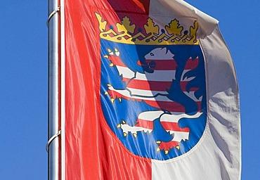 The Hesse flag, Hesse, Germany.