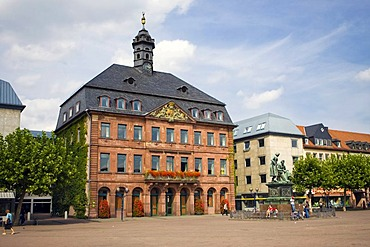 The Neustaedter town hall at the market square in Hanau, Hesse, Germany.