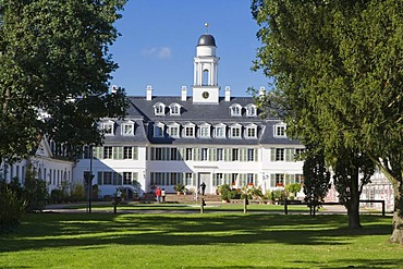 The Rumpenheim castle, near the river Main in Offenbach, Hesse, Germany.