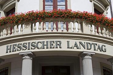 The Hessian Landtag, Wiesbaden, Hesse, Germany.