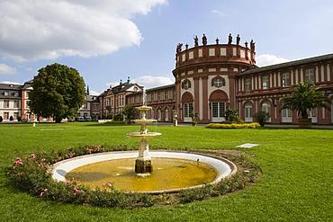 Schloss Biebrich Wiesbaden Hesse Germany.