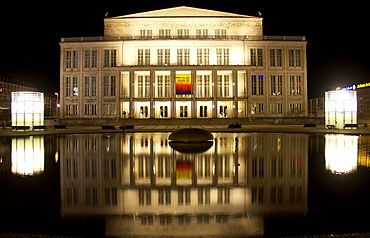 The opera house in Leipzig, Germany
