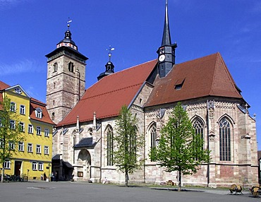 Church in the town Schmalkalden, Germany