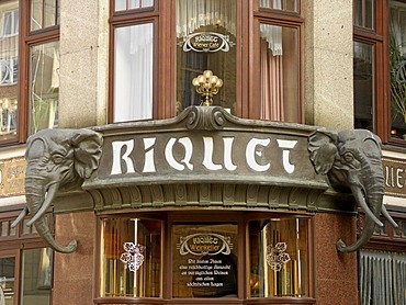 The Riquethaus in Leipzig, Saxony, Germany, detail