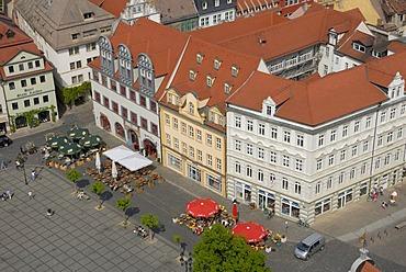 Market square of Naumburg, Saxony-Anhalt, Germany