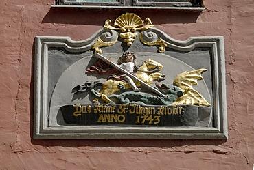 House emblem, Stralsund, Mecklenburg-Western Pomerania, Germany