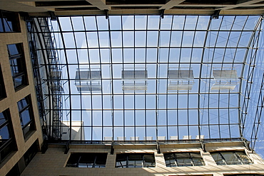 Glass roof, Bauwens house, Leipzig, Saxony, Germany