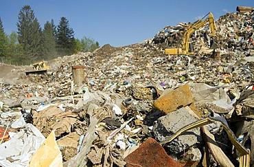 Waste at disposal site Riederberg, Woergl, Tyrole, Austria