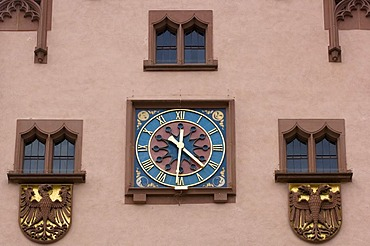 Roemer, cityhall clock, Frankfurt am Main, Hesse, Germany