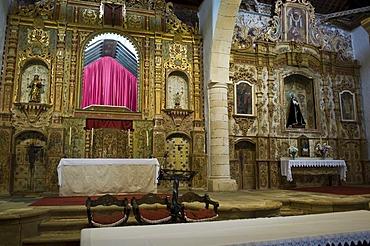 Alter, church Nuestra Senora de Regla in Pajara, Fuerteventura, Canary Islands, Spain
