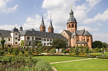 Former Benedictine abbey with Basilica, Seligenstadt, Hesse, Germany