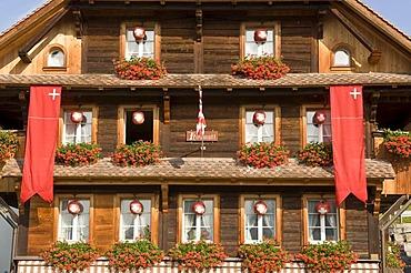 Typical hotel, Lucerne canton, Switzerland
