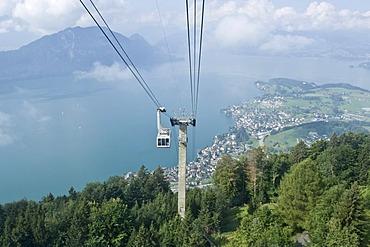 Ropeway Weggis, Lake Lucerne, Lucerne canton, Switzerland