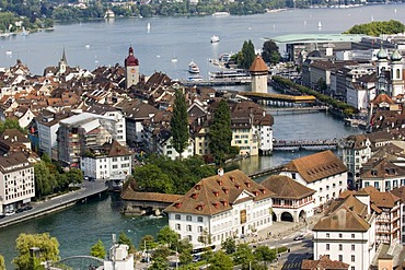 Old town at the Lake Lucerne, Lucerne, Switzerland