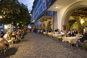 Restaurant in the old part of Lucerne, canton Lucerne, Switzerland