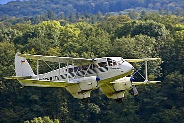De Haviland DH 89, Europe's big vintage aeroplane meeting on the Hahnweide, Kirchheim-Teck, Baden Wuerttemberg , Germany