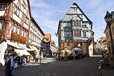 "The Tavern ""Zum Riesen"", oldest tavern in Germany, Old part of town, timbered houses, Miltenberg, Bavaria, Germany"