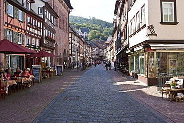 Old part of town, well-maintained timbered houses, Miltenberg, Bavaria, Germany